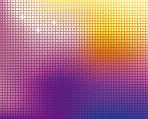 ビビットカラーのグラデーションとドットの背景のイラスト素材 [FYI04916565]