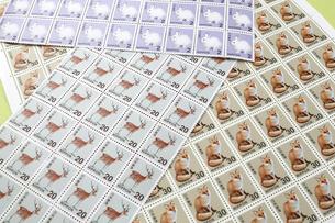 動物切手シートの写真素材 [FYI04916577]