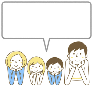 家族 二世代 ふきだしのイラスト素材 [FYI04916677]