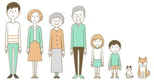 家族 三世代のイラスト素材 [FYI04916890]