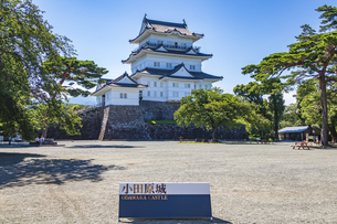 小田原城 本丸広場の記念撮影スポットの写真素材 [FYI04917235]