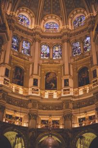 スペイン グラナダの荘厳なカテドラル(大聖堂)の写真素材 [FYI04917336]