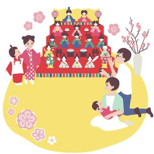 家族でひな祭りのイラスト素材 [FYI04918066]