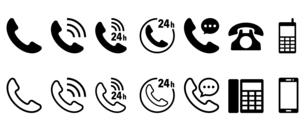 電話のアイコンのイラスト素材 [FYI04918815]