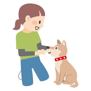 アニマルセラピストと犬のイラスト素材 [FYI04918887]