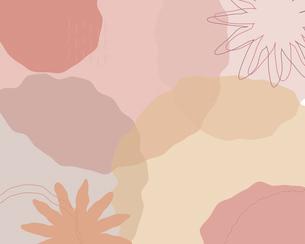 抽象的な花と形のイラスト背景_ピンクのイラスト素材 [FYI04919205]