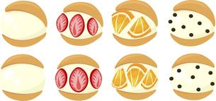 バニラ味のマリトッツオの可愛いアイコンのイラスト素材 [FYI04919588]