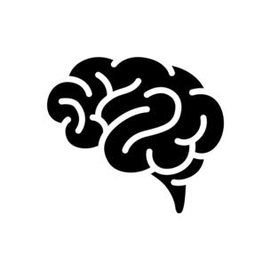 脳みそのアイコンのイラスト素材 [FYI04919757]