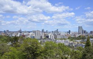 青葉城址からの仙台市街の写真素材 [FYI04919856]