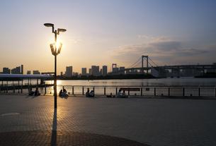 夕方のお台場海浜公園の写真素材 [FYI04919902]
