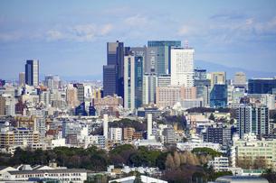 東京の街並み 三軒茶屋キャロットタワーから代々木方向の写真素材 [FYI04920297]