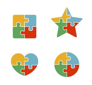 パズルの組み合わせ 図形のイラスト素材 [FYI04920605]