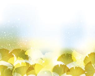 銀杏の葉と光とぼかしの背景のイラスト素材 [FYI04920681]