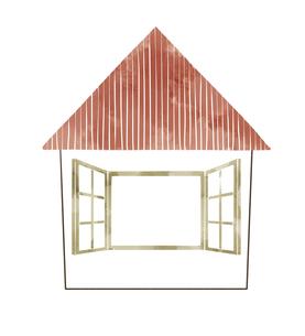 赤い屋根の家のイラスト素材 [FYI04920764]