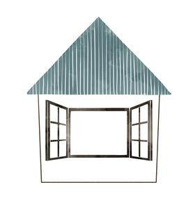 青い屋根の家のイラスト素材 [FYI04920765]