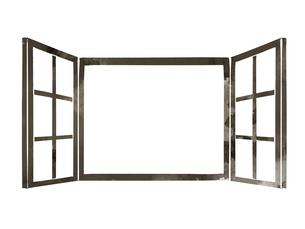 開いている窓のイラスト素材 [FYI04920766]