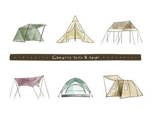 テントとタープのセットのイラスト素材 [FYI04920780]