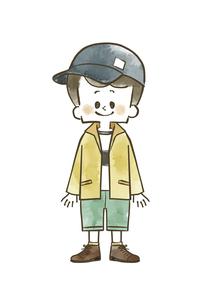 アウトドアウェアの男の子のイラスト素材 [FYI04920783]