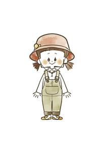 アウトドアウェアの女の子のイラスト素材 [FYI04920784]