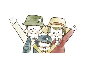 アウトドアウェアの家族のイラスト素材 [FYI04920794]