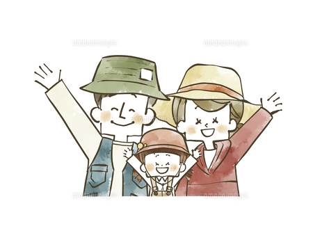 アウトドアウェアの家族のイラスト素材 [FYI04920795]