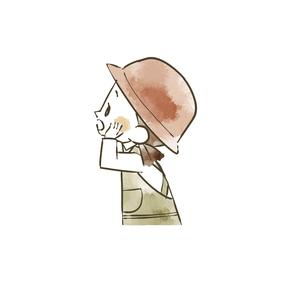 アウトドアウェアの女の子のイラスト素材 [FYI04920834]