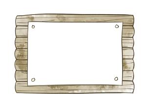 木の掲示板のイラスト素材 [FYI04920836]