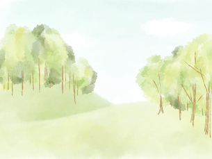 森林や草原の風景のイラスト素材 [FYI04920848]