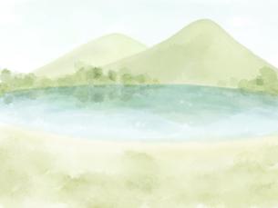 湖のある風景のイラスト素材 [FYI04920849]