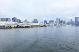 梅雨空の町並みに東京タワーの写真素材 [FYI04920985]
