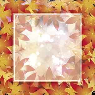 もみじの葉のイラストフレーム背景のイラスト素材 [FYI04920999]