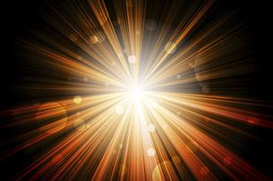 放射状に広がる光のイラスト素材 [FYI04921226]
