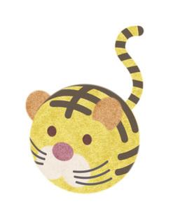 寅、虎、とら年年賀状イラスト コロコロ丸いほのぼのトラのキャラクターのイラスト素材 [FYI04921255]