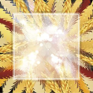 麦のイラスト背景フレームのイラスト素材 [FYI04921568]