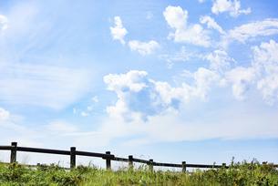 草原と青空の写真素材 [FYI04921602]