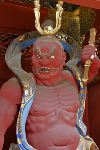 輪王寺 仁王門 金剛力士像の写真素材 [FYI04921653]