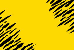 黄色と黒の虎柄模様の葉書テンプレートのイラスト素材 [FYI04921927]