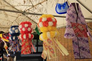 仙台城跡の青葉神社 七夕飾りの写真素材 [FYI04922577]