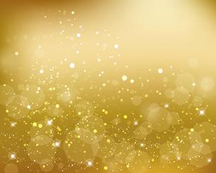 輝きとぼかしのゴールデン背景のイラスト素材 [FYI04922713]