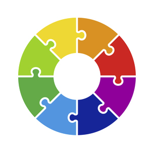 パズルの円形チャート グラフ アイコンのイラスト素材 [FYI04922852]