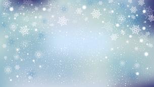 雪の結晶が舞う背景のイラスト素材 [FYI04923451]