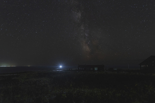 礼文島からの星空の写真素材 [FYI04923581]