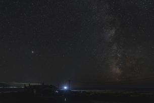 礼文島からの星空の写真素材 [FYI04923582]