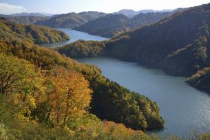 秋の田子倉湖の写真素材 [FYI04923722]