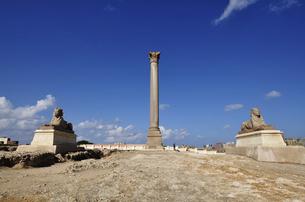 ポンペイの柱とスフィンクス像の写真素材 [FYI04924540]