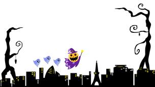 Halloween city viewのイラスト素材 [FYI04924971]