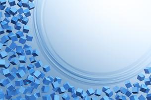 たくさんの立方体と曲線と光 CGのイラスト素材 [FYI04925107]