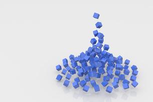 集まるたくさんの立方体 CGのイラスト素材 [FYI04925108]