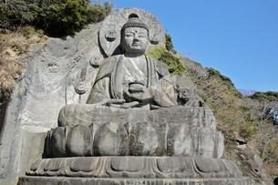 3月 鋸山の日本寺(にっぽんじ)の大仏の写真素材 [FYI04925560]