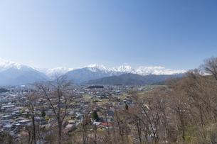 大町山岳博物館からの北アルプス連峰の写真素材 [FYI04925778]
